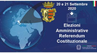 Elezioni 2020 – Elezioni Amministrative e Referendum Costituzionale