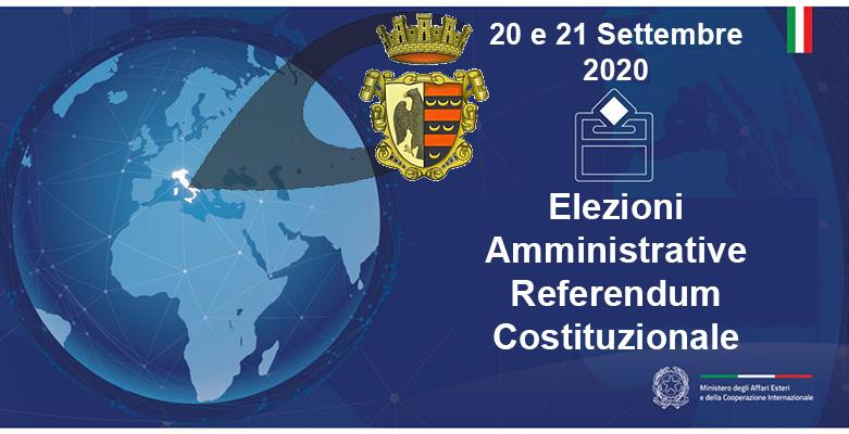 Elezioni del 20 e 21 Sett. 2020 – Programma Elettorale dei Candidati Sindaco, Manifesto Candidati e link ai relativi siti ufficiali (ELEZIONI TRASPARENTI)